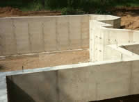 Solid Concrete Foundation