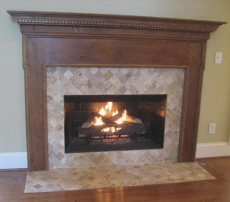 Vented gas fireplace for Prefab fireplace inserts wood burning