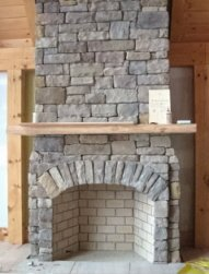 Masonry fireplace designs for New construction wood burning fireplace